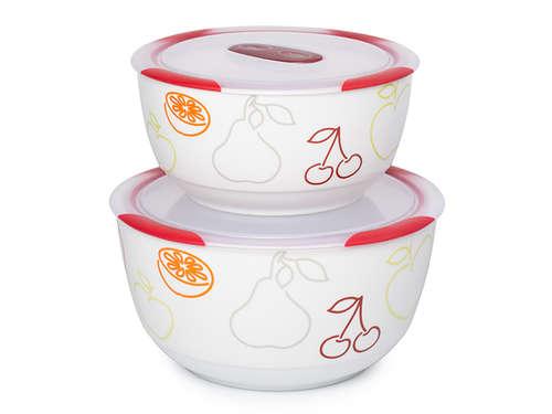 2 set ceramic bowls, BS4781RC/DC, Dark cherry