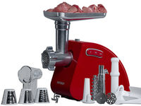 Universal meat grinder MG5530/RD with meat, tomato juice and scrubber accessories