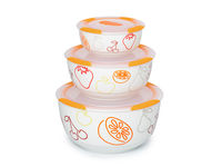 3 set ceramic bowls, BS2981RC/OR, Orange